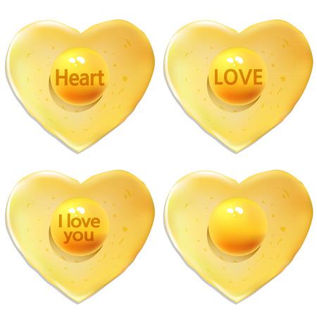 testimony: eggs heart Illustration