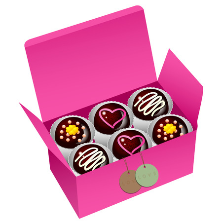 happy valentines day: sweet chocolate, sweet cup cake