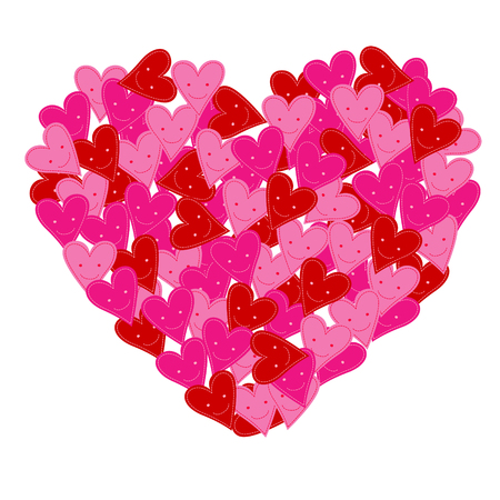 seduce: pink smiley heart, love heart background