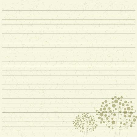 papier a lettre: Papier à lettre arbre Illustration