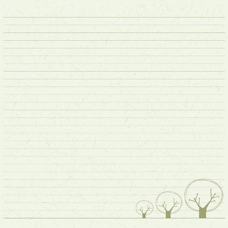 papier a lettre: papier arbre lettre, la texture du papier à base de bois sur le croquis Illustration