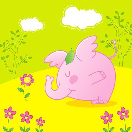 bébé éléphant rose, rose bébé éléphant conte Vecteurs