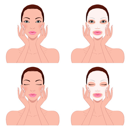 facial massage: beautiful womans skin care, beautiful young woman
