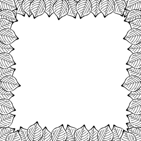 adverts: tree line leaves abstract frame Illustration