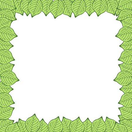 adverts: tree green leaves abstract frame Illustration