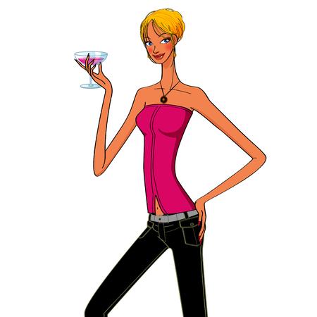 woman drinking wine: beautiful sexy woman drinking a glass of wine