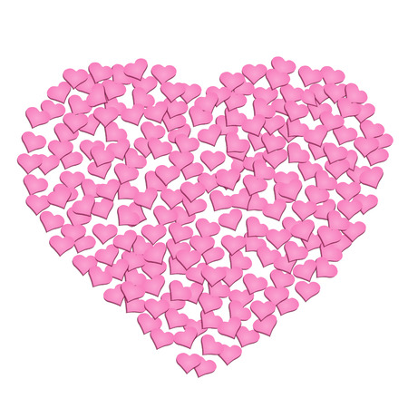confession: event heart, small pink heart with big heart