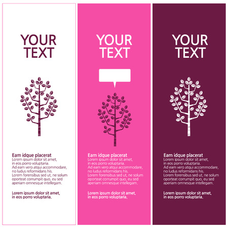 design trees, tree silhouette design set