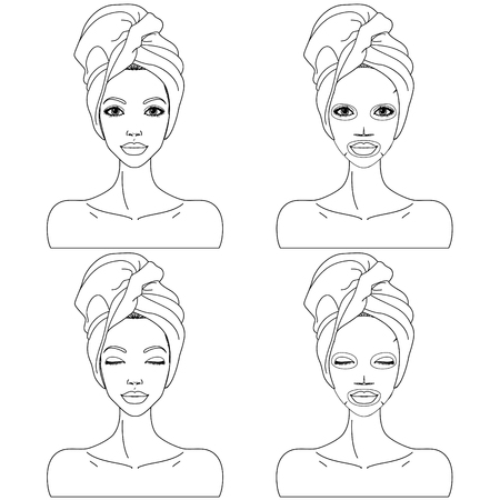 care: beautiful womans skin care