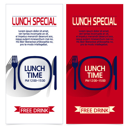 lifestyle dining: set of brochures with color tree images