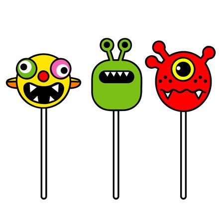 pranks: monster pop, humorous lollipops booger