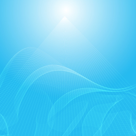 abstract blue wavy background, abstract light vector background