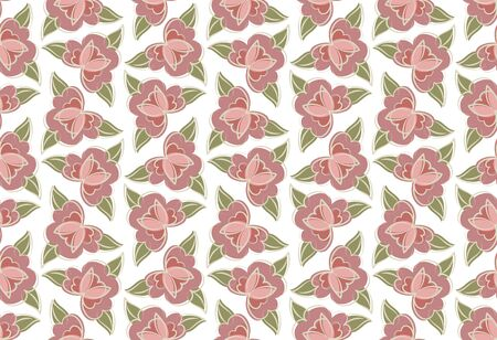Floral background. Flower buds pattern. vector illustration