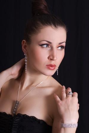 portrait of a beautiful glamorous women in jewelry