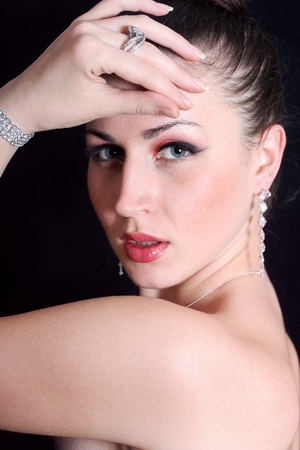 portrait of a young lady in the jewelry photo