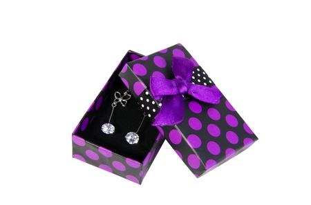 blackpurple box with earrings