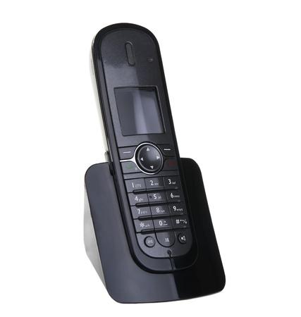 Modern phone isolated on white background photo