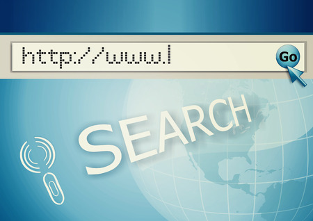 http  www: cursor pointing at http www text in browser address bar, arrow pointer, soft macro web url link page closeup