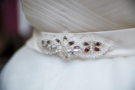 Photo of a wedding dress beaded belt