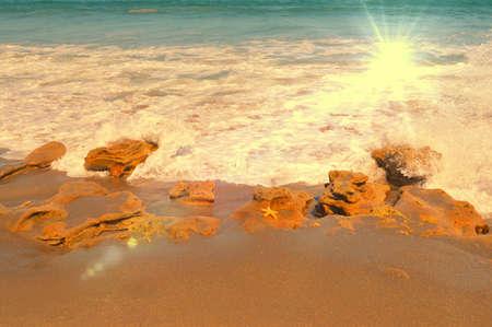 sun burst: sun burst on the beach
