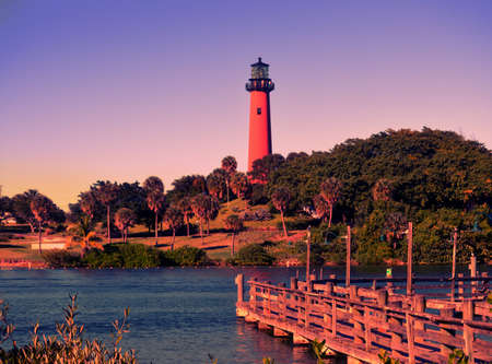 jupiter light: Jupiter Light House, Palm Beach County,Florida, USA