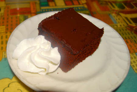 hits: chocoloate cake with whipped cream