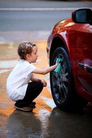 dirty car: Washing the car
