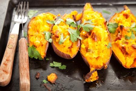 chorizo: Stuffed sweet potatoes with chorizo