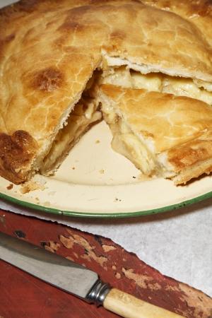 Home made apple &amp, cheedar cheese pie
