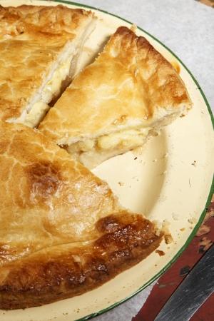 Home made apple & cheedar cheese pie
