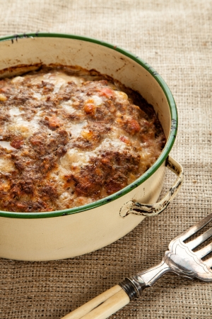 Meatloaf fresh from the oven in a circle tin Stock Photo - 21867048