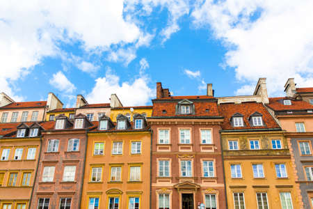 faade: Traditional old town houses in a row