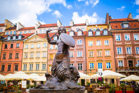 Old town in Warsaw, market square