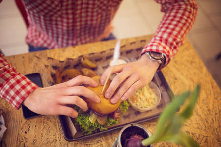 caloric: Tasty and caloric lunch