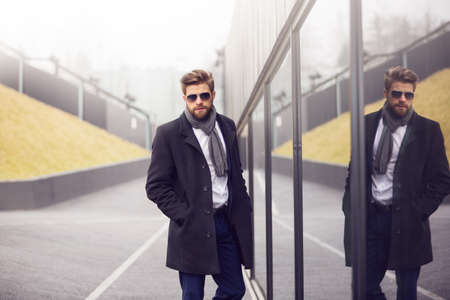 horizontal haircut: A Fashionable businessman