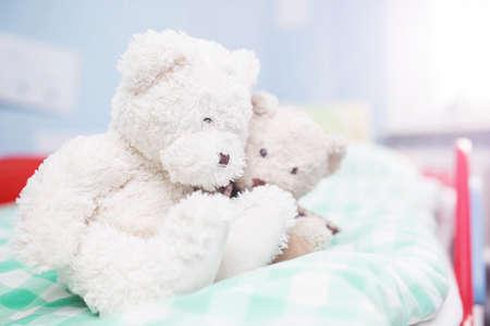 plushie: Two white teddy bears
