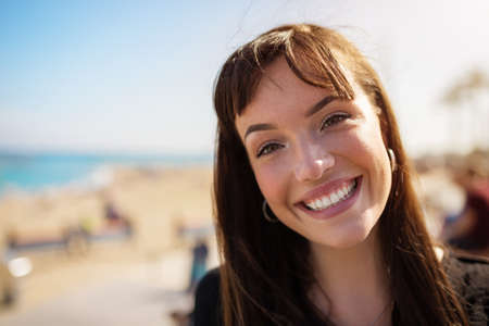 grinning: Grinning girl Stock Photo