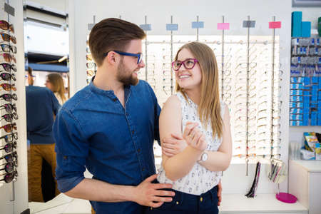 bespectacled: Young people in love