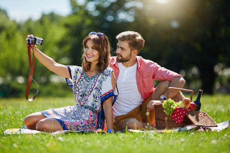 love pic: Smile to the camera Stock Photo