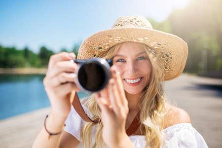 Smile to the camera Stock Photo