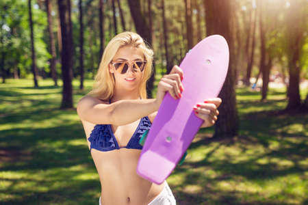 This is my pennyboard Stock Photo