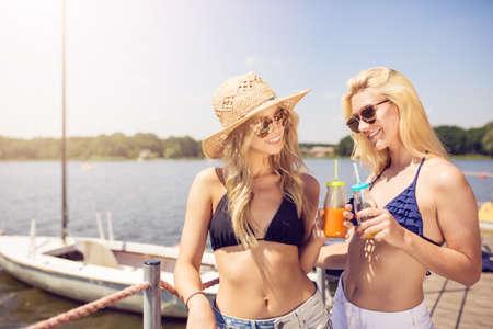 Girls at the marina