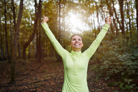 hapiness: Hapiness from good work Stock Photo