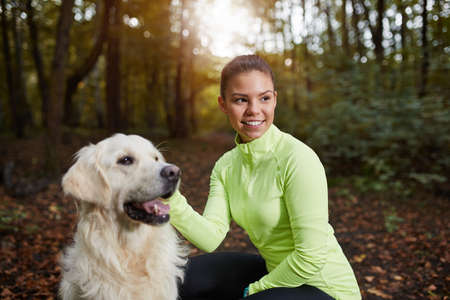 one people: Mans best friend Stock Photo
