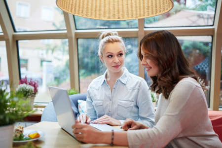 working: Working together Stock Photo