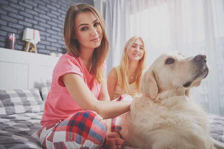 man's best friend: Girls with best mans friend