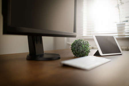 newest: Home office desk Stock Photo