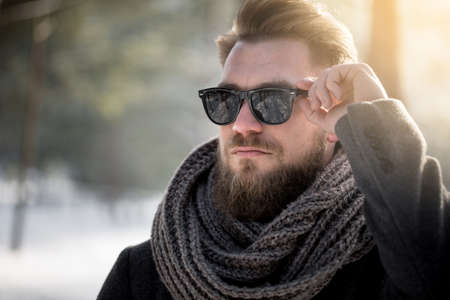Sunglasses can be useful in winter too Stock Photo