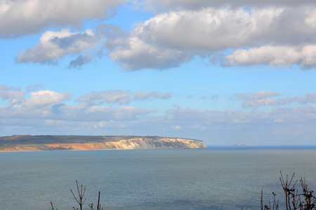 View of Culver Cliff from Shanklin on the Isle of Wight Zdjęcie Seryjne