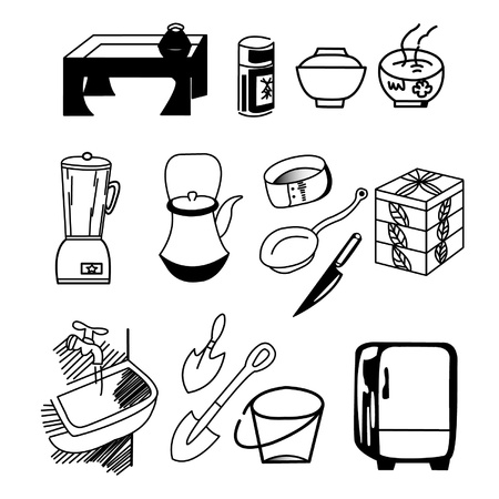 illustration of house ware Stock Vector - 16864501